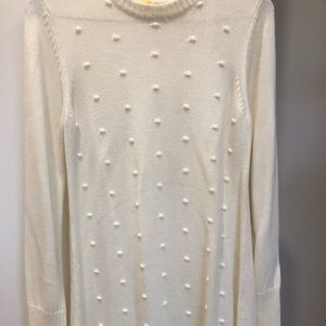 Eliza J ivory sweater dress